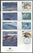 MAURITANIA 1986 WWF MONK SEALS SET ON FDC's (x4) (ID:563/D17888)