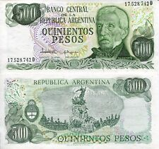 ARGENTINA 500 Pesos Banknote World Paper Money UNC Currency Pick p303c Note Bill