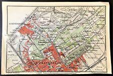 1910 ANTIQUE COLOR MAP - SGRAVENHAGEN, NETHERLANDS (The Hague) - 100% ORIGINAL