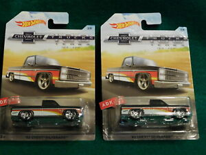 Hot Wheels ~ CHEVROLET TRUCKS 100 YEARS #2/8 ~ '83 Chevy Silverado ~ 2 Trucks