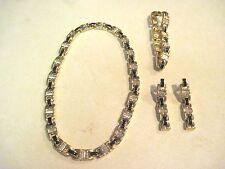 SWAROVSKI Signed  Crystal Enamel Matching Necklace, Bracelet  Earrings  504
