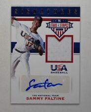 2017 USA Stars and Stripes Material Signatures #53 Sammy Faltine Auto Jersey /99