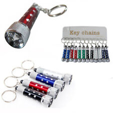 Lot of 12 Portable Mini LED Flashlight Torch Light Up Key Chain Ring Small Lamp
