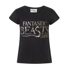 Magliette e maglie neri con fantasia logo per bambine dai 2 ai 16 anni