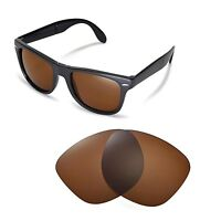 New Walleva Polarized Brown Lenses For Ray-Ban Wayfarer RB4105 54mm Sunglasses