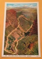 FISH CREEK GRADE, APACHE TRAIL AZ vintage unposted white-border postcard