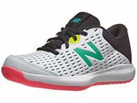 New Balance Kid's 696 V4 Tennis Shoe, White/Black, Size 2.0 RWih