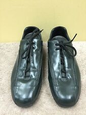 PRADA Men green Sneakers casual  lace up shoes  4E 1119 size 8.5 pre-owned