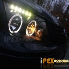 New 1999-2005 VW Jetta Bora Style Halo Projector LED Black Headlights Headlamp
