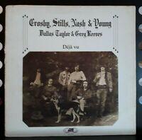 """LP 33T Crosby, Stills, Nash & Young - """"Déjà vu"""" - or.fr 1972  Atlantic – 50 001"""