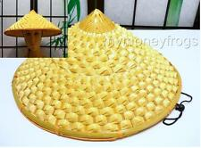 Chinese Oriental Vietnamese Asian Straw Cone Garden Fishing Sun Bamboo Adult Hat