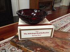 """Avon 1876 Cape Cod Ruby Red 8"""" Serving Bowl Nib"""