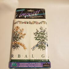 "Imperial Impact Wall Paper Herbal Garden Print 6.75"" x 5 yd Self Adhesive Board"