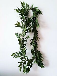 Artificial Green Ruscus Leaf Garland Foliage - Perfect for Greenery Wedding