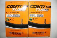 "2 x Fahrradschlauch Continental Tour 28"" (700C) All AV40 (32-47/622-635) Conti"