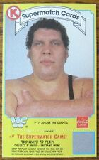1987 Circle K Coca-Cola ANDRE the GIANT Wrestling Card WWF Supermatch COKE