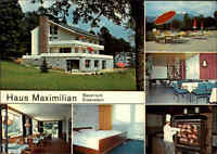 BAYERISCH EISENSTEIN color Mehrbild-AK Haus Maximilian 1975 Postkarte gelaufen