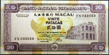1996 UNC with Vibrant Colors P-66 Macau, Banco Nacional Ultramarino 20 Patacas!!