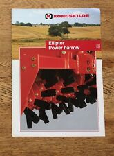 Kongskilde Elliptor Power Harrow 4 page Brochure & Technical Specifications