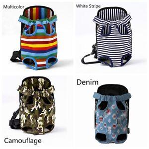 Pet Carrier Backpack Front Bag Puppy Sling Pouch Travel Tote Denim Adjustable