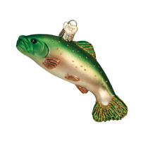 """""""Brook Trout"""" (Fish) (12393) Old World Christmas Glass Ornament w/ OWC Box"""