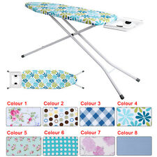 Deluxe Wide Metal Iron Ironing Board Table Height Adjustable Non Slip 8 Color