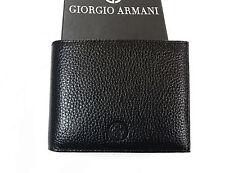 Giorgio Armani pebble Leather Wallet in Black