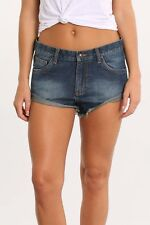 Rusty Low Rise Denim Women's Shorts Size 10 Blue Frayed Hem