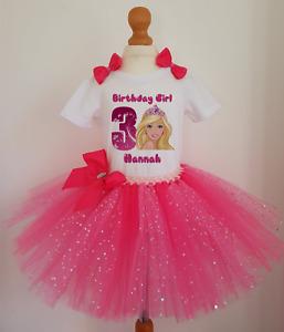 Girls Barbie Birthday tutu dress set ,Girls Birthday outfit Christmas Costume