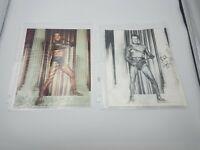 2 KIRK DOUGLAS as SPARTACUS Color Photo Autographed Signed
