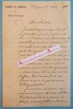 Lettre 1906 Port de SAINT NAZAIRE Chambre de Commerce Tramway Dollfus Mirabaud