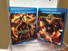 ** Lot of 2 Hunger Games Blu-Ray Movies ~ The Hunger Games ~ MockingJay Part 1