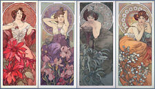 Precious Stones and Flowers   by Alphons Mucha   Giclee Canvas Print Repro