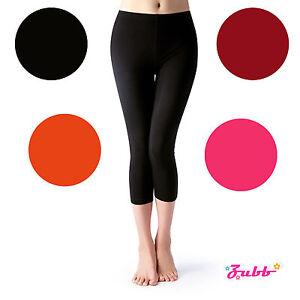 Basic Solid Stretch Seamless Capri Legging Pants Yoga Comfy Cropped Slim Fit