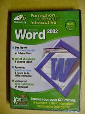 CD PC Formation Microsoft Word 2002 /J19