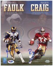 Marshall Faulk and Roger Craig Autographed 8x10 Photo - PSA/DNA COA