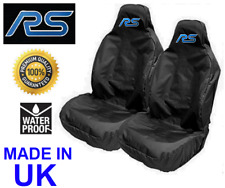 RS | FORD FOCUS RS MK3 RECARO BUCKET SEAT COVERS x2 | BLACK | EXTRA HEAVY DUTY