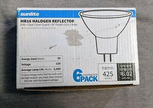 Sunlite-50MR16/CG/FL/120V Halogen 50W 120V MR16 Flood Light Bulb,3200K 6 pack