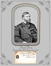 Associate Justice US Supreme Court David Davis  Photo & Autograph