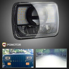 DOT LED Projector Headlight Low/High Beam DRL + Turn Signal For Jeep Cherokee XJ