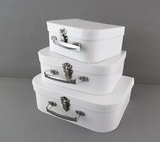 3 valigia cartone bianco decorare decoupage scrapbooking bomboniera confezione