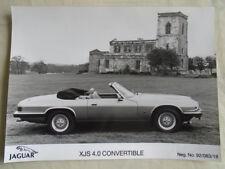 Jaguar XJS 4.0 Convertible Press Photo c1992 ref 92/083/18
