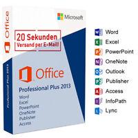 Microsoft Office 2013 Professional Plus MS Office Pro Plus 32/64 Blitzversand