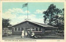 Lake Huron Michigan~Camp Store~Womans Benefit Association~1928 Postcard