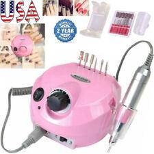 Electric Nail Drill Bits Set Machine 35000RPM Pro Manicure Pedicure Nail File US