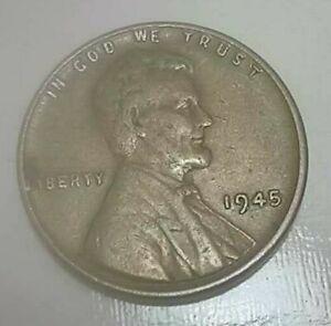 1945 No Mint Mark Wheat Penny Circulated RARE