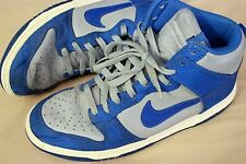 Nike Dunks High Casual Shoes Sneakers Grey Blue White Sz 10.5 Classic