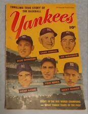 Thrilling True Story Of The Baseball Yankees Fawcett 1952