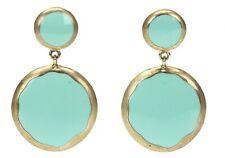 Circle Drop Earrings 137810 Adami & Martucci Mint Green/Gold