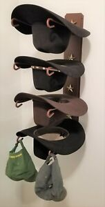 American Made Cowboy Hat Rack with Stars Powder Coated Rust